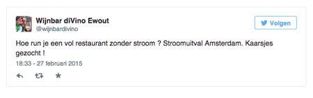 TwitterStroomuitvalAmsterdam